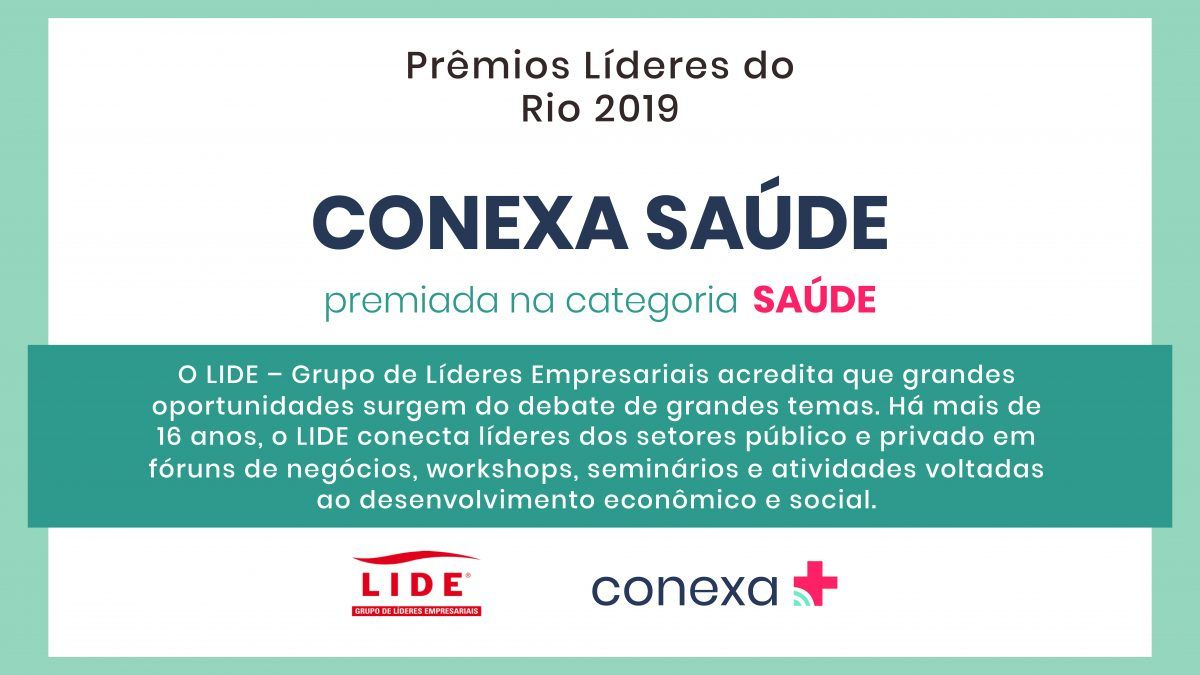 Conexa Saúde recebe Prêmio Líderes do Rio